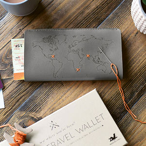 Stitch It Yourself Travel Wallet - gifts for him