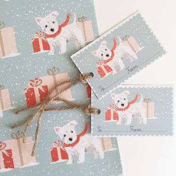 West Highland Terrier Christmas Wrapping Paper