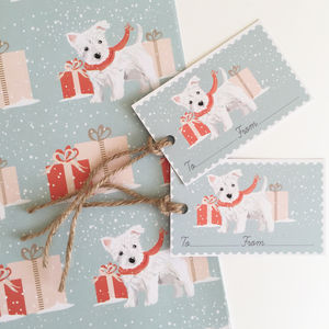 West Highland Terrier Christmas Wrapping Paper Pack