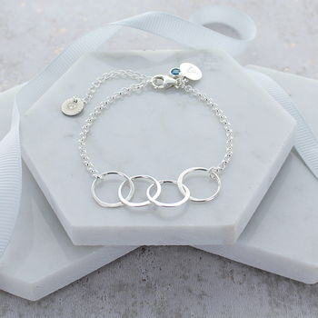 40th Birthday Personalised Infinity Link Bracelet