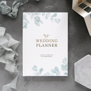 Wedding Planner Book Eucalyptus | Engagement Gift - albums & guest books