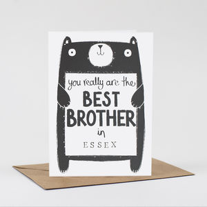 Brother Birthday Card - birthday cards