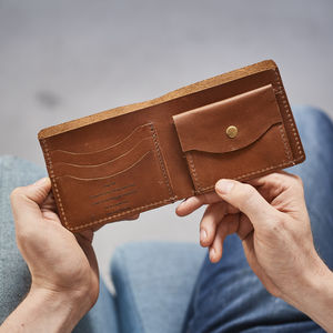 Secret Message Leather Wallet - wallets
