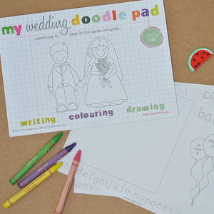 Wedding Alphabet Doodle Pad - little extras for children