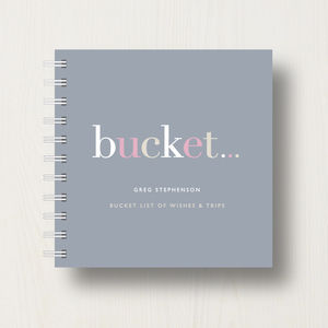 Personalised 'Bucket' List Small Notebook - notepads & to do lists