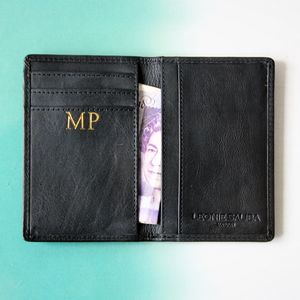 Personalised Luxury Leather Slim Card Wallet - gifts for him
