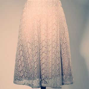 Pure Silk Lace Skirt