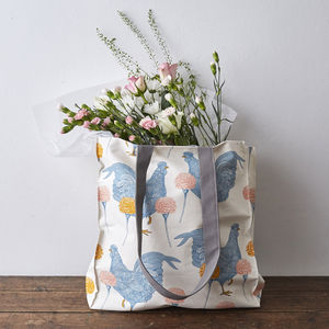 Chicken And Carnation Tote Bag