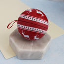 Scandi Style Tin Gift Box Bauble