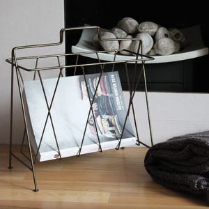 Brass Wire Magazine Rack - magazine racks