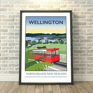 Wellington Cable Car, New Zealand Print