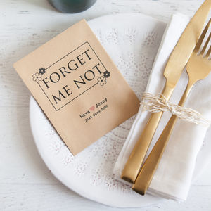 10 'Forget Me Not' Seed Packet Favours - wedding favours