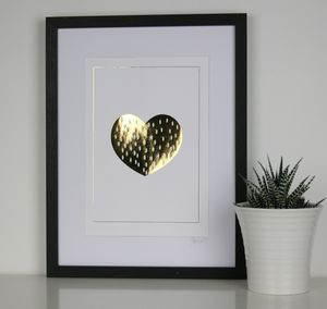 Heart Of Gold Foil Print