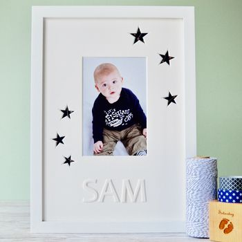 Personalised Christening Photo Mount