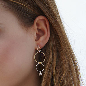 Finn Gold And Silver Drop Earrings
