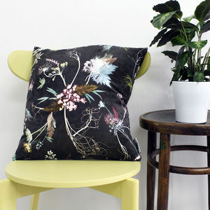 Chocolate Tone Floral Style Scatter And Floor Cushion
