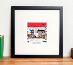 Personalised Arsenal Old Football Highbury Ground Print - posters & prints
