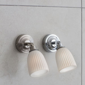 Alma Bathroom Spotlight In Satin Nickel Ceramic - lighting