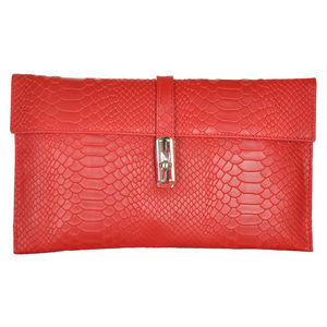 Rouge Textured Envelope Clutch
