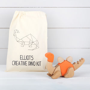 Wooden Dinosaur Kit With Personalised Bag, Three Styles - traditional toys & games