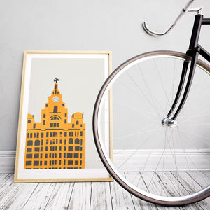 Royal Liver Building Liverpool Print