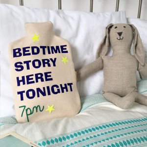 Personalised Children's Bedtime Story Hot Water Bottle