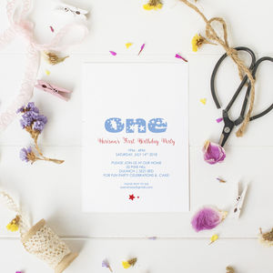 10 Star Number Party Invitations