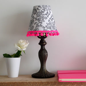 Hand Drawn Pair Of Paisley Candle Lampshades - bedroom