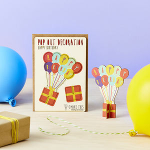 Pop Out Happy Birthday Card
