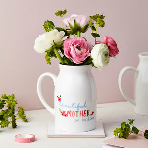 Personalised Floral Flower Small Vase - vases