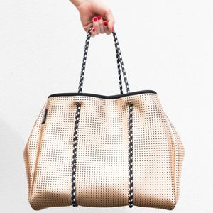 Metallic Neoprene Tote Bag - womens