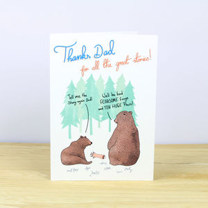 Daddy Bear And Cub Father's Day Card