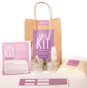 'Mediterranean Fig' Candle Making Kit - dining room