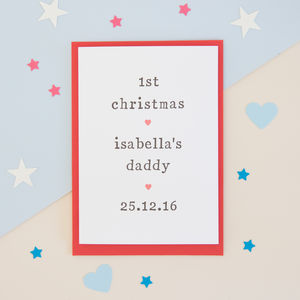 Personalised '1st Christmas As' Card