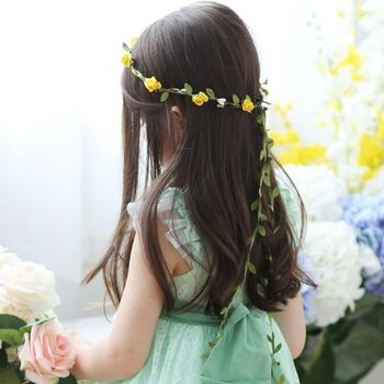 Easter Trailing Flower Headband