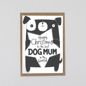 Best Dog Mum In The World Christmas Card
