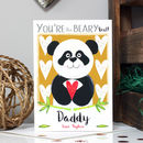 Personalised Best Mummy Daddy Panda Card