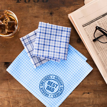 Best Dad Personalised Handkerchiefs