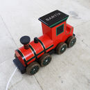 Personalised Wooden Pull Along Steam Train