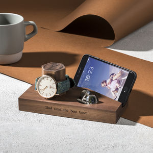 Personalised Bedside Watch And Phone Stand - best father's day gifts