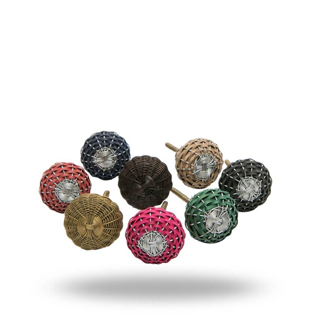 Set Of Eight Weave Knobs