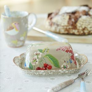 Pip Floral Two.0 Hummingbirds Butter Dish - butter dishes