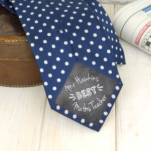 Personalised Thank You Teacher Tie - gifts for teachers