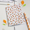Carrot Pattern Notebook