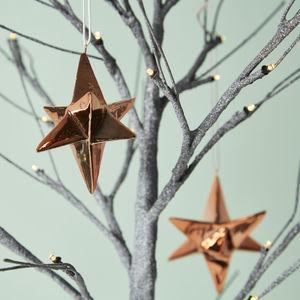 3D Copper Star Decoration - tree decorations