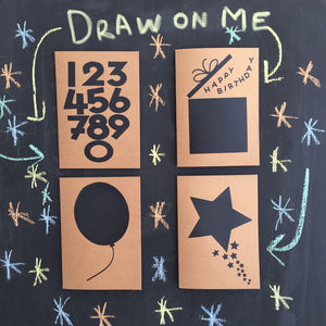 Pack Of Four Chalkboard Greetings Cards - create your own cards