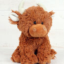 Scottish Highland Cow Soft Toy Gift Wrapped