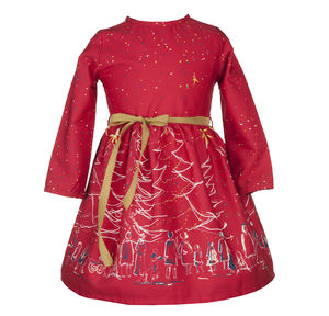 Margaret Red Christmas Dress - clothing