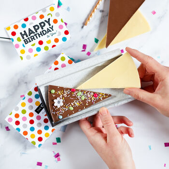Flat Pack Letterbox Chocolate Birthday Cake And Candle