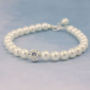 Pearl And Crystal Glitterball Bracelet - wedding jewellery